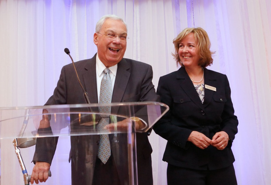 Mayor Menino and Meg Mainzer-Cohen